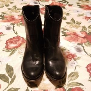 Frye Women's Black Leather Ankle Boots